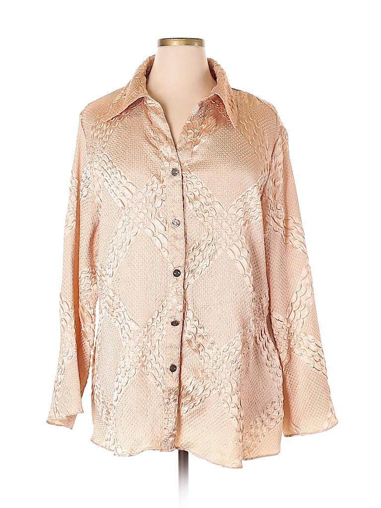 Cato Women Long Sleeve Blouse Size 22 - 24 Plus (Plus)