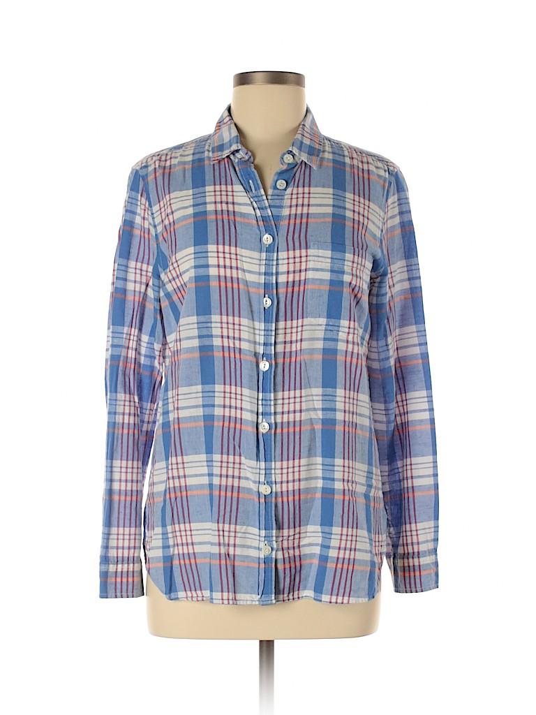 J. Crew Women Long Sleeve Button-Down Shirt Size 8