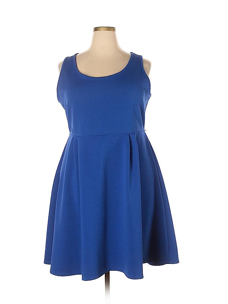 Lane Bryant Women Casual Dress Size 18 (Plus)