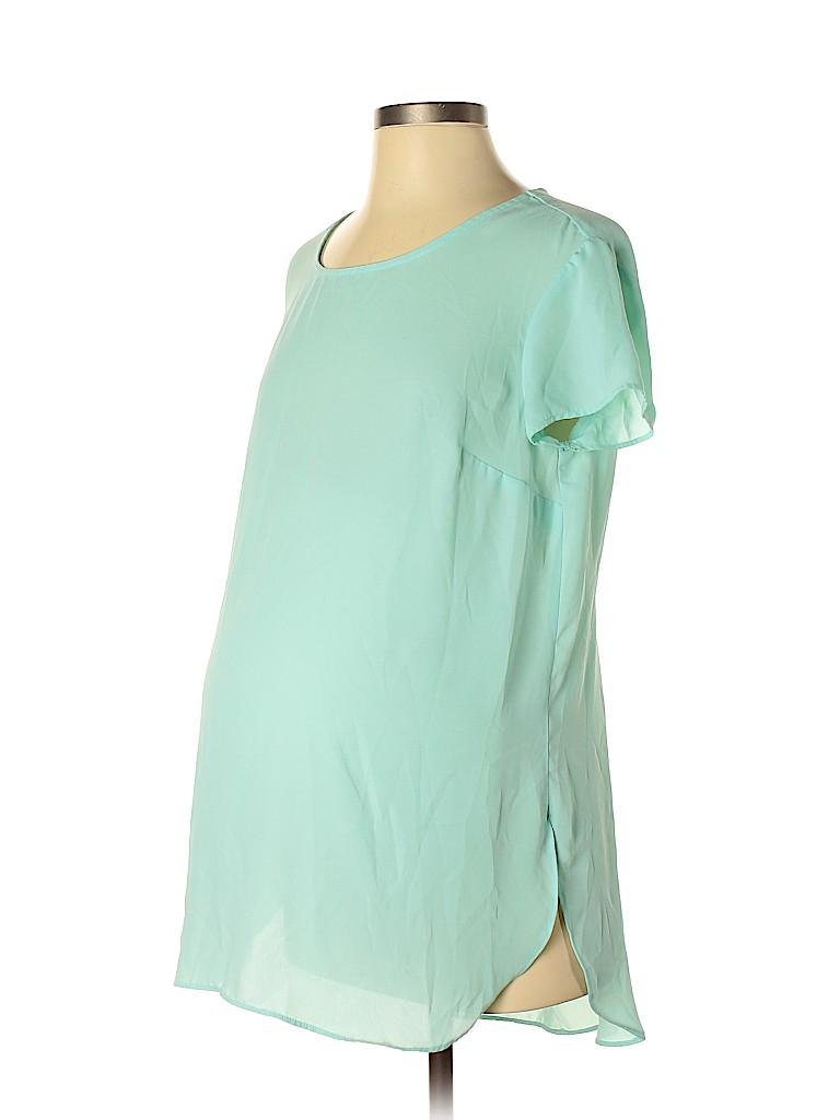 Liz Lange Maternity Women Short Sleeve Blouse Size S (Maternity)