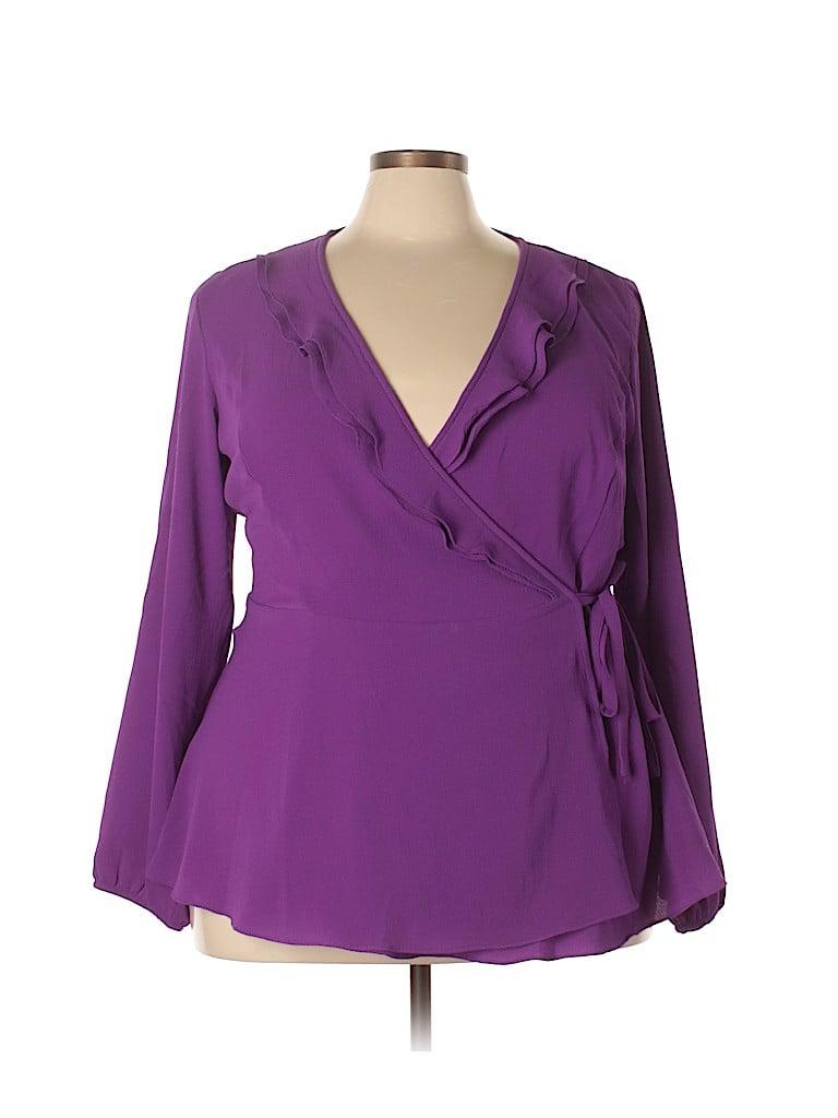 City Chic Women Long Sleeve Blouse Size 20 Plus (L) (Plus)