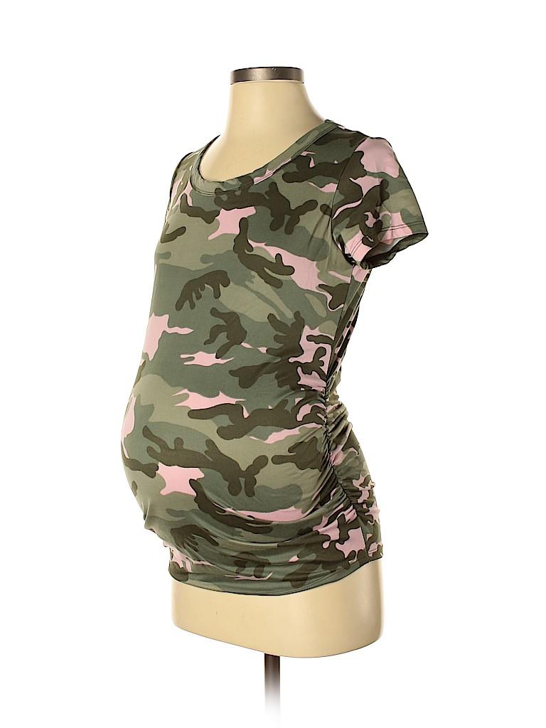 Mom & Co. - Maternity Women Short Sleeve T-Shirt Size S (Maternity)