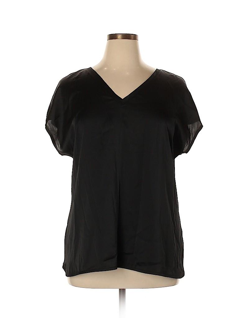 Lane Bryant Women Short Sleeve Blouse Size 14 - 16 Plus (Plus)