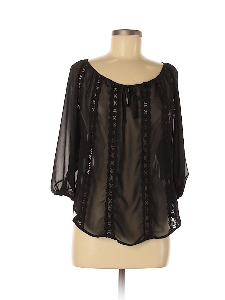 LC Lauren Conrad Women Short Sleeve Blouse Size XS