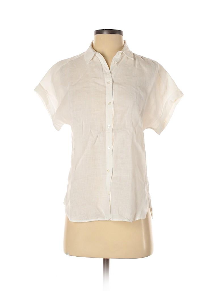 Massimo Dutti Women Short Sleeve Button-Down Shirt Size 2