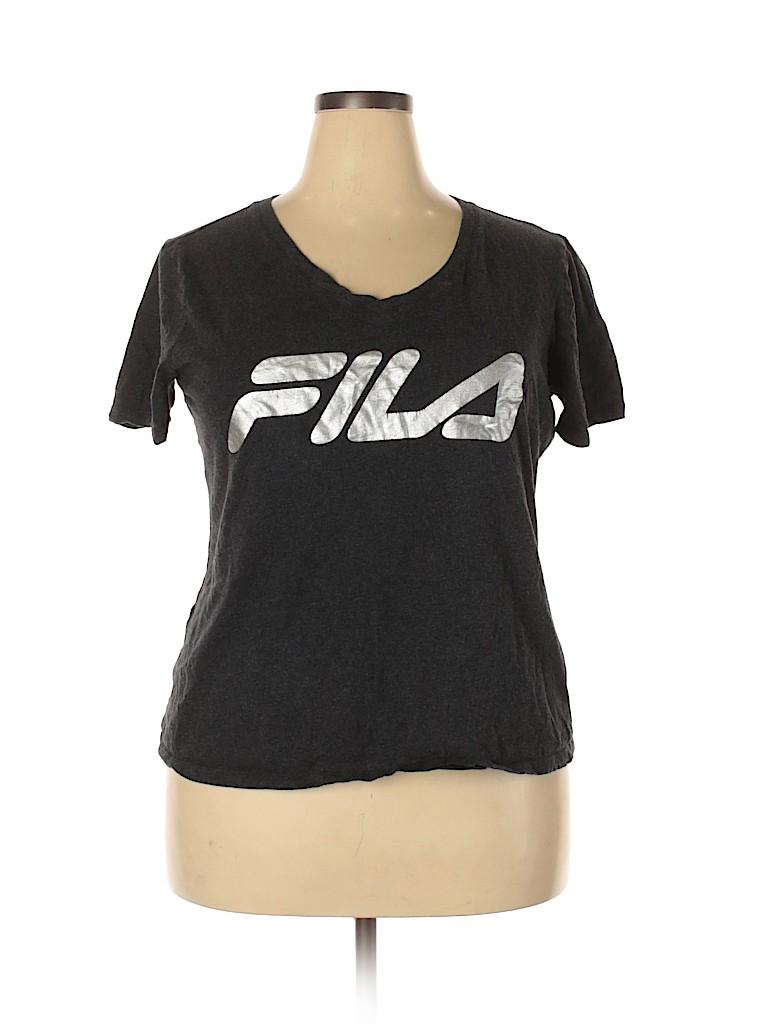 Fila Women Active T-Shirt Size 1X (Plus)