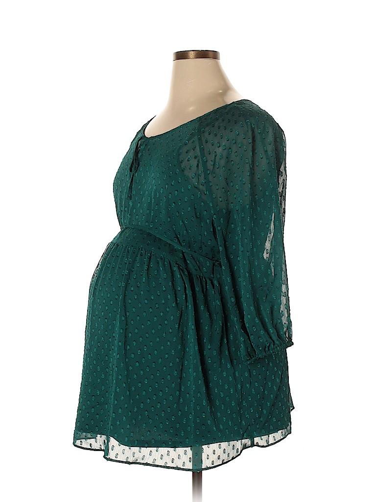 Motherhood Women 3/4 Sleeve Blouse Size 1X (Maternity)