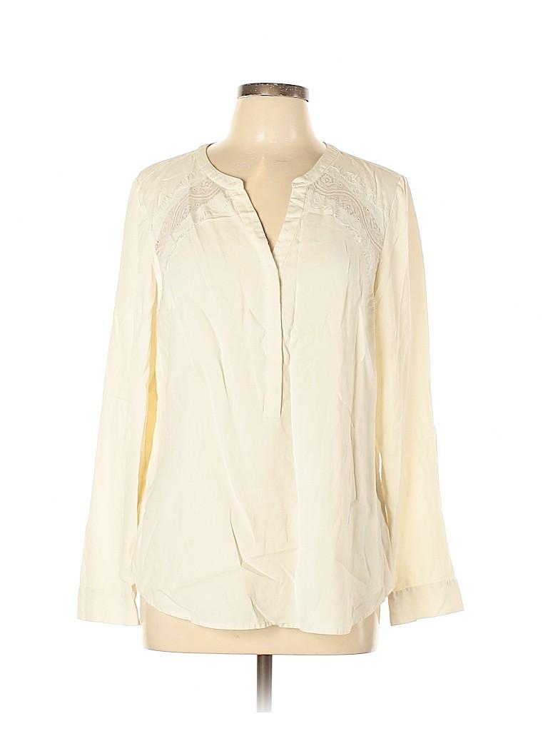 Go By Go Silk Women Long Sleeve Silk Top Size L