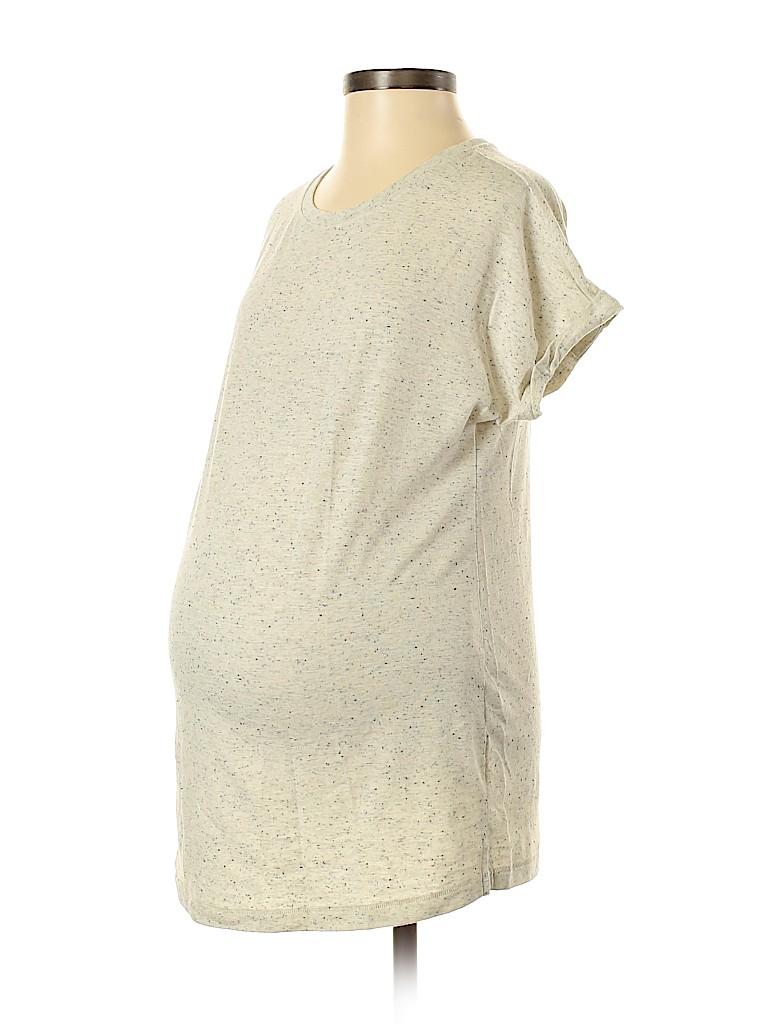 LED Luxe Essentials Denim Women Short Sleeve Top Size XS (Maternity)