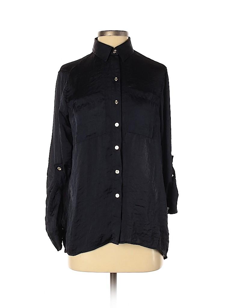MICHAEL Michael Kors Women Long Sleeve Button-Down Shirt Size XS