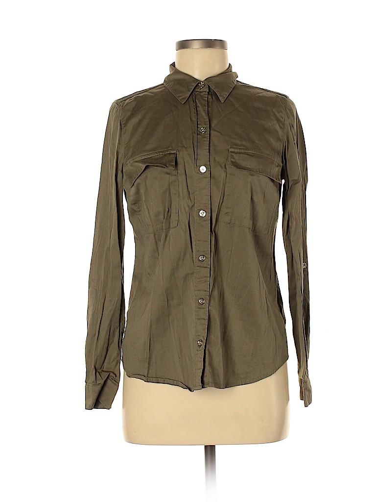 MICHAEL Michael Kors Women Long Sleeve Button-Down Shirt Size 6