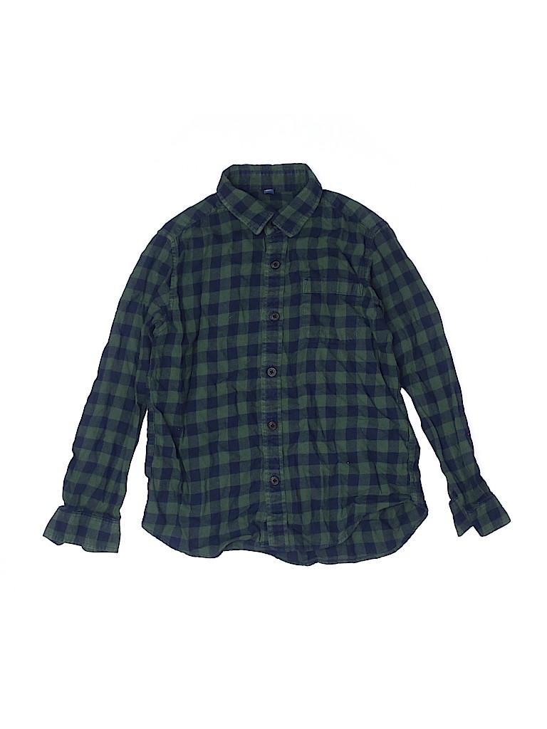 Uniqlo Boys Long Sleeve Button-Down Shirt Size 7 - 8