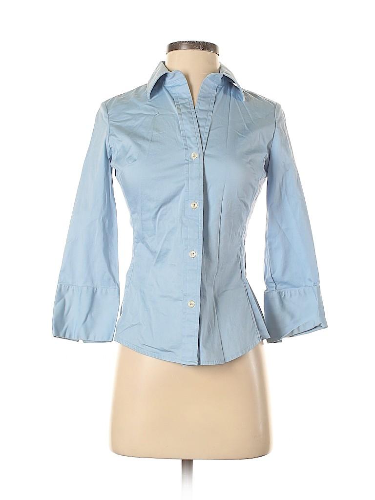 Banana Republic Factory Store Women 3/4 Sleeve Button-Down Shirt Size XS