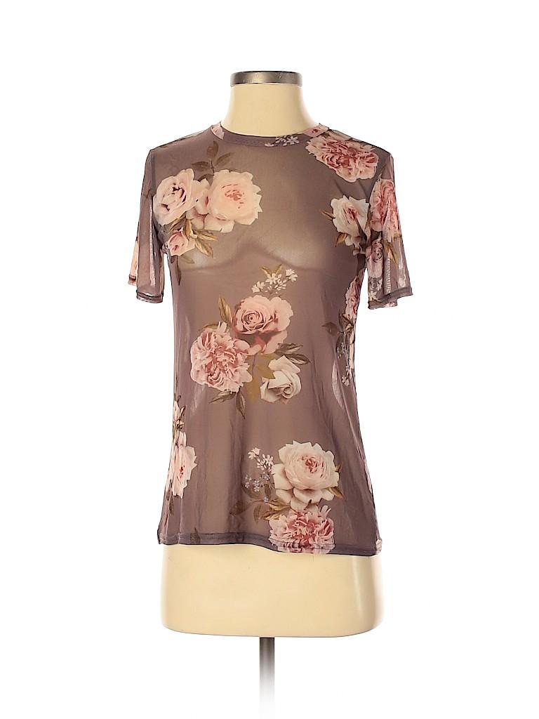 New Look Women Short Sleeve Top Size 2
