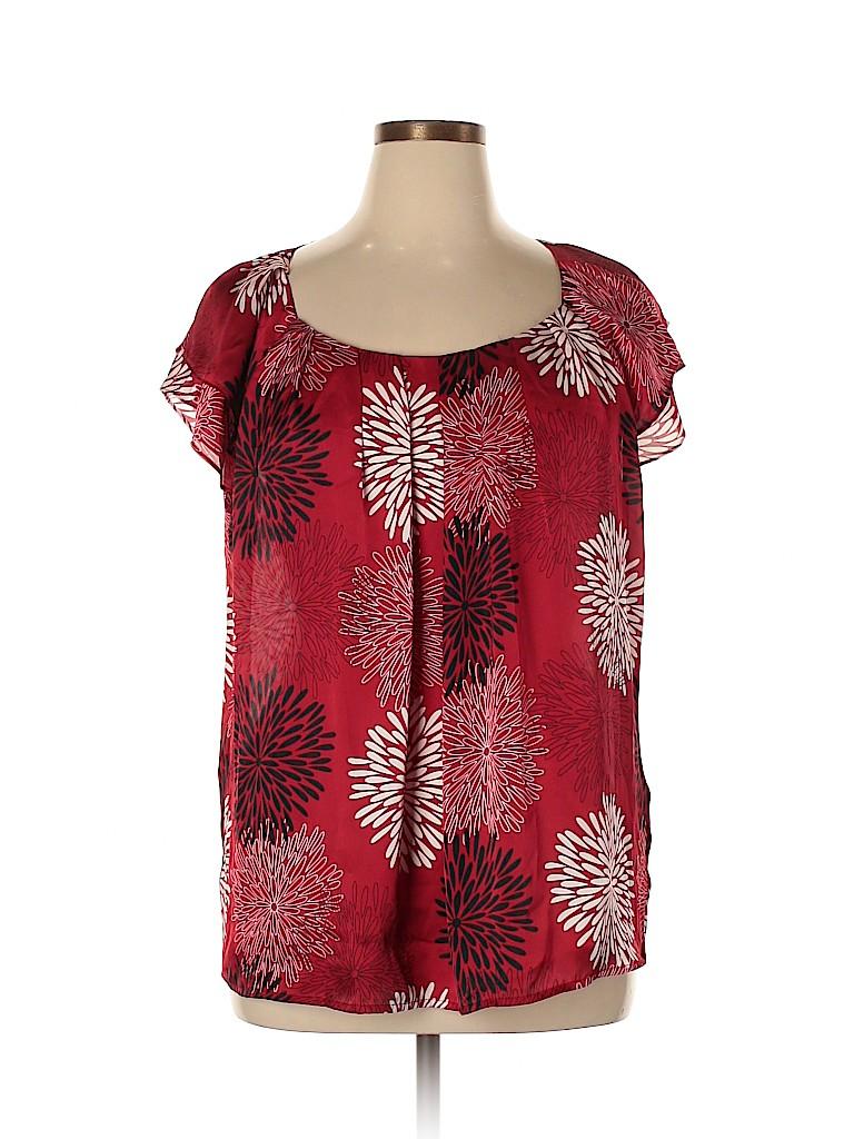 DressBarn Women Short Sleeve Blouse Size 18 - 20 (Plus)