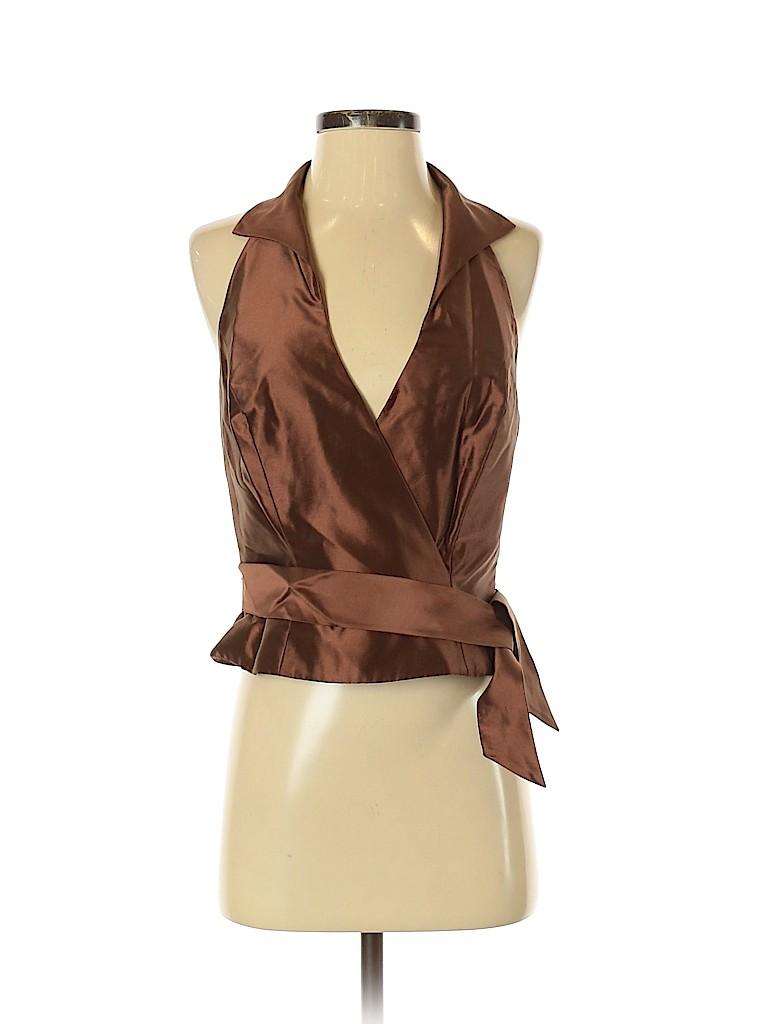 Carmen Marc Valvo Collection Women Sleeveless Blouse Size 4