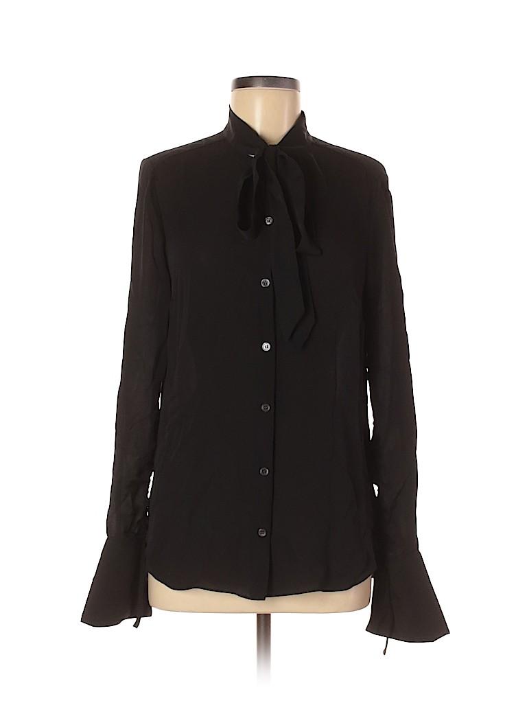 Veronica Beard Women Long Sleeve Silk Top Size 6