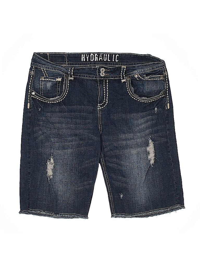 Hydraulic Women Denim Shorts Size 18 (Plus)