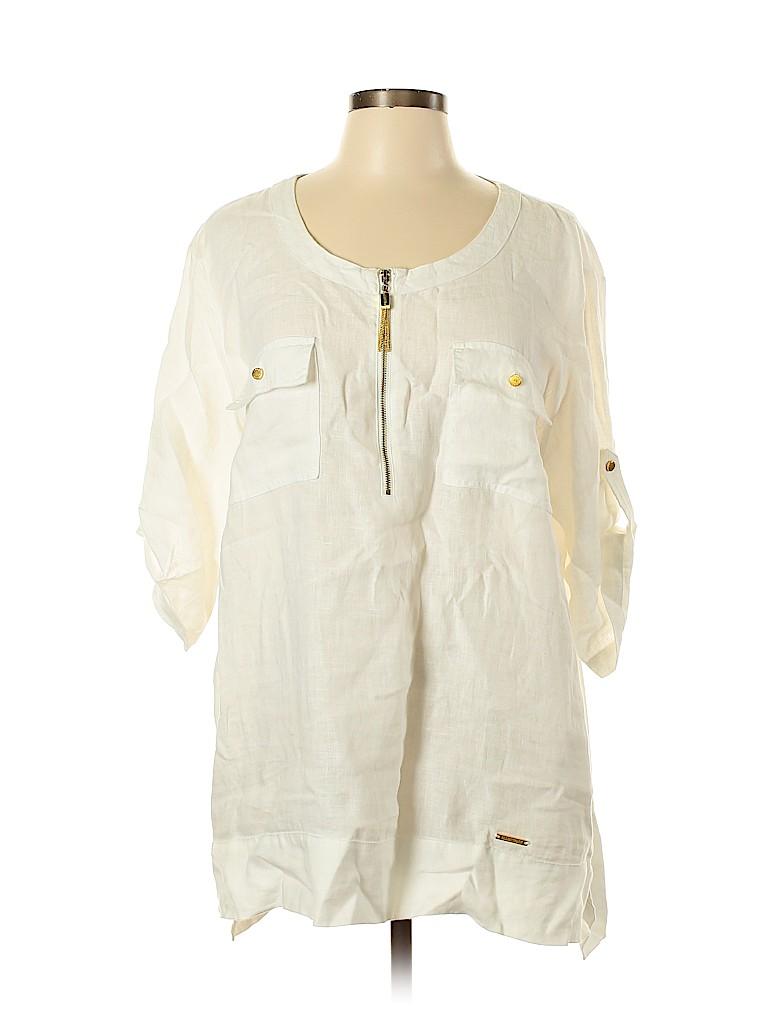 Ellen Tracy Women 3/4 Sleeve Blouse Size XL