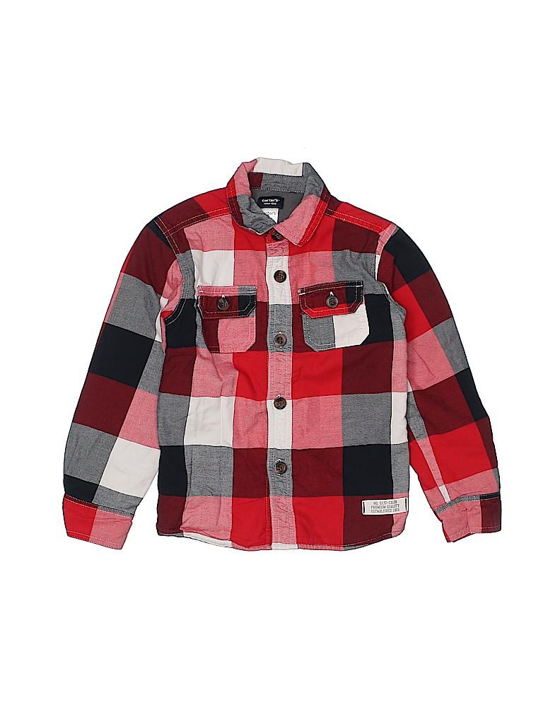 Carter's Boys Long Sleeve Button-Down Shirt Size 5T