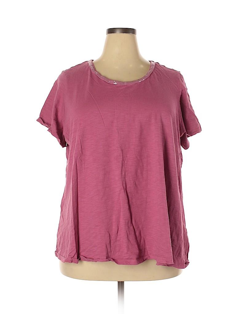 Avenue Women Short Sleeve T-Shirt Size 26 - 28 Plus (Plus)