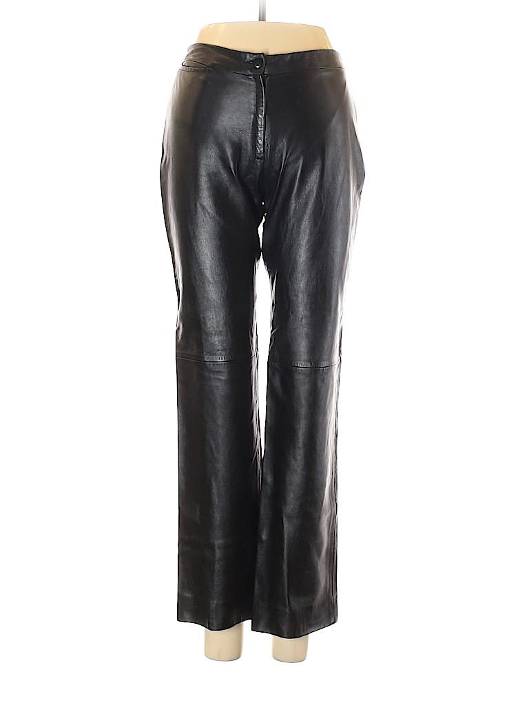 BCBGMAXAZRIA Women Leather Pants Size 2