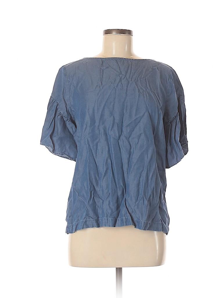 Ann Taylor LOFT Women Short Sleeve Blouse Size M