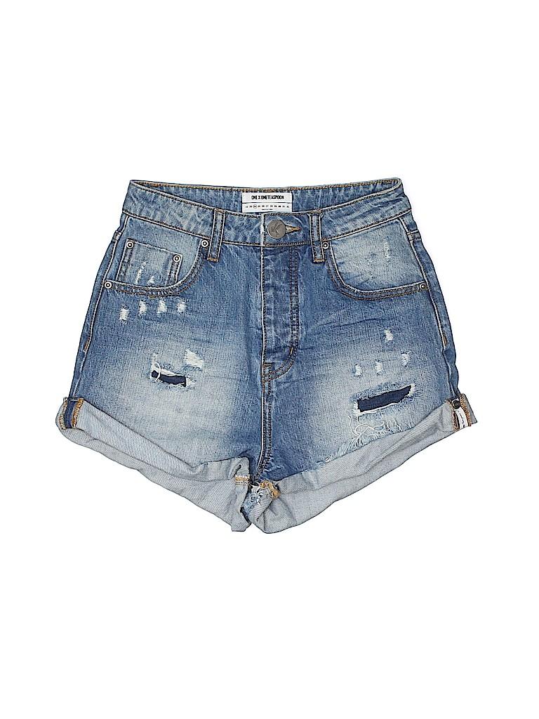 ONE X ONETEASPOON Women Denim Shorts 24 Waist