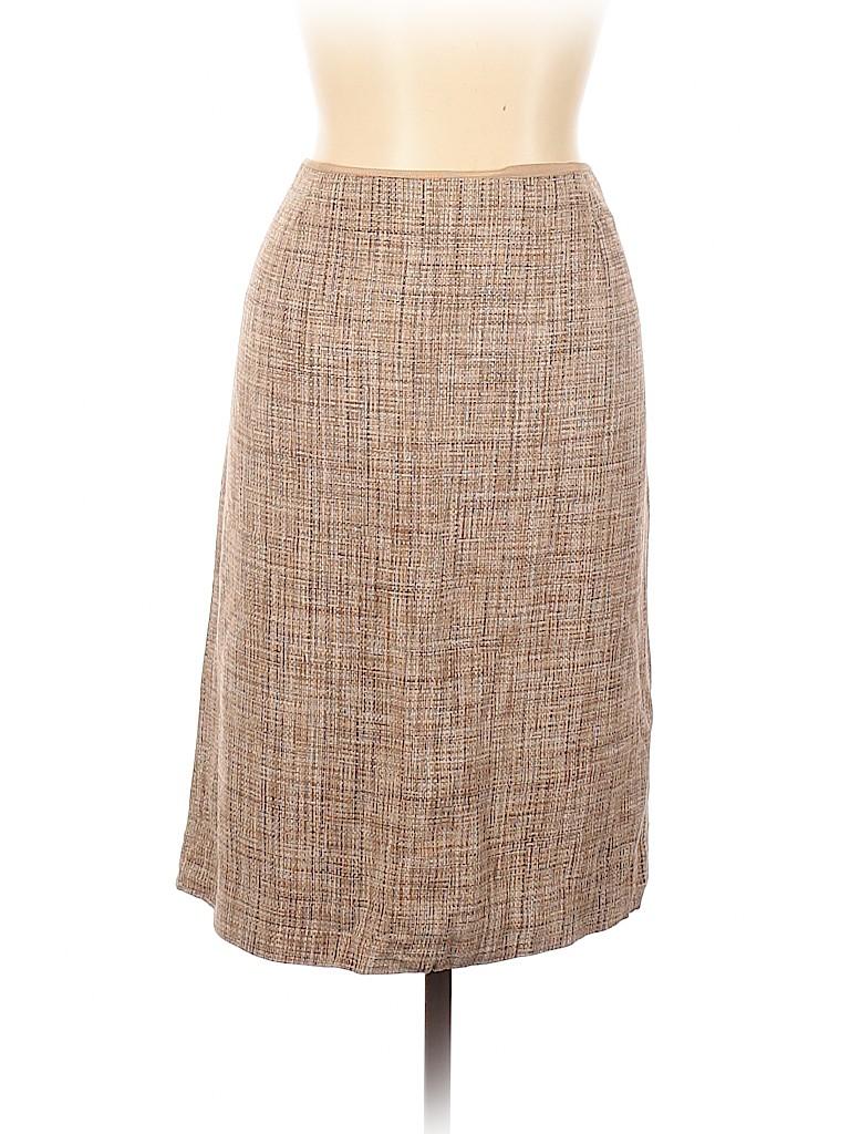 Dana Buchman Women Silk Skirt Size 16