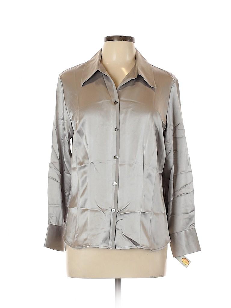 Talbots Women Long Sleeve Silk Top Size 12