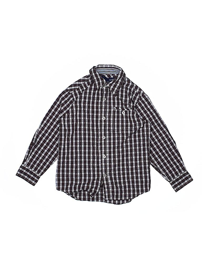 Basic Editions Boys Long Sleeve Button-Down Shirt Size 6 - 7
