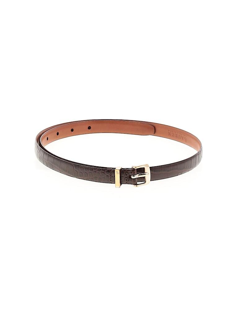 Lauren by Ralph Lauren Women Leather Belt Size L