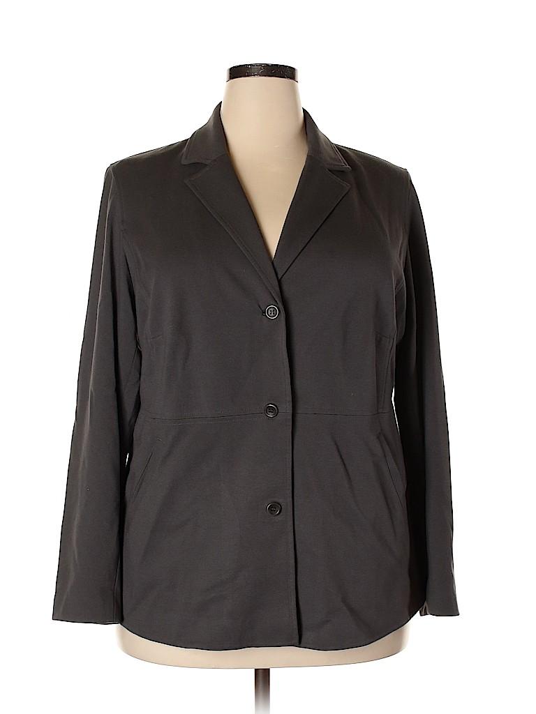 Eileen Fisher Women Blazer Size 1X (Plus)