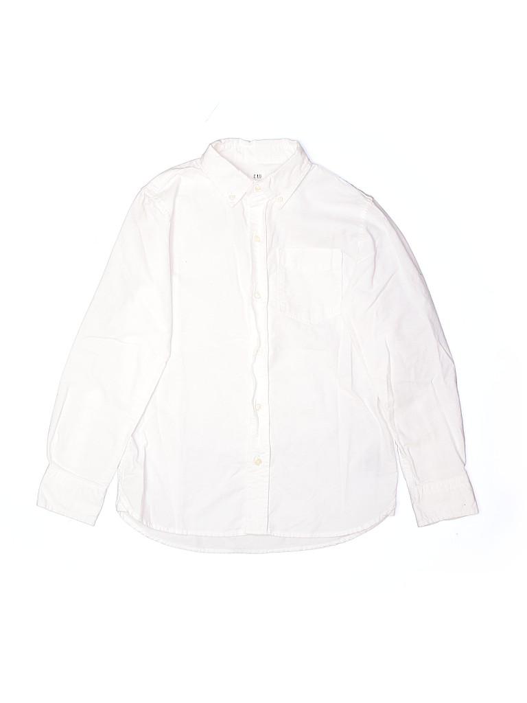 Gap Kids Boys Long Sleeve Button-Down Shirt Size 8