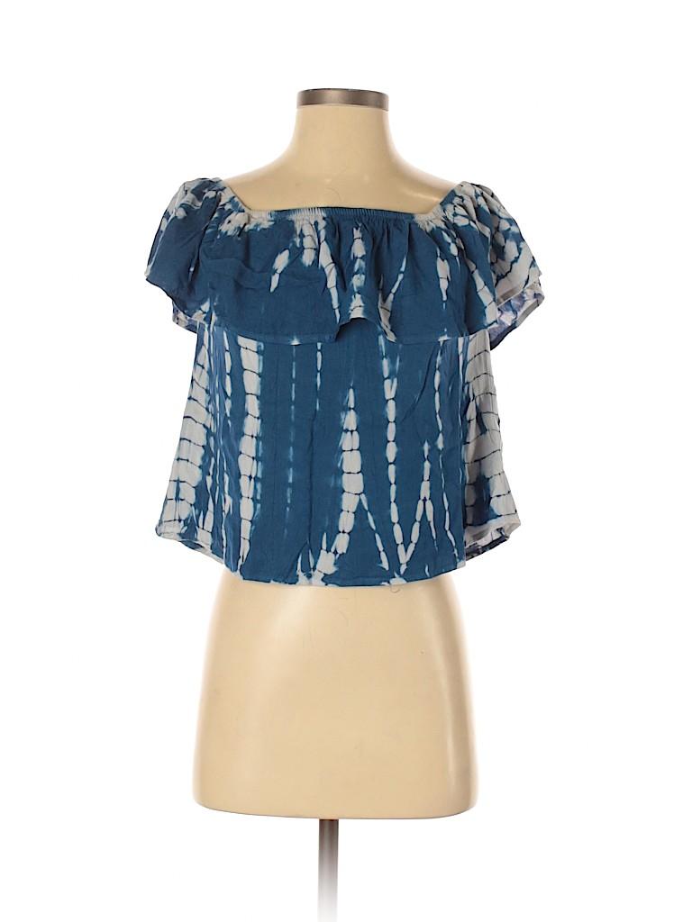 Style Envy Women Short Sleeve Blouse Size S