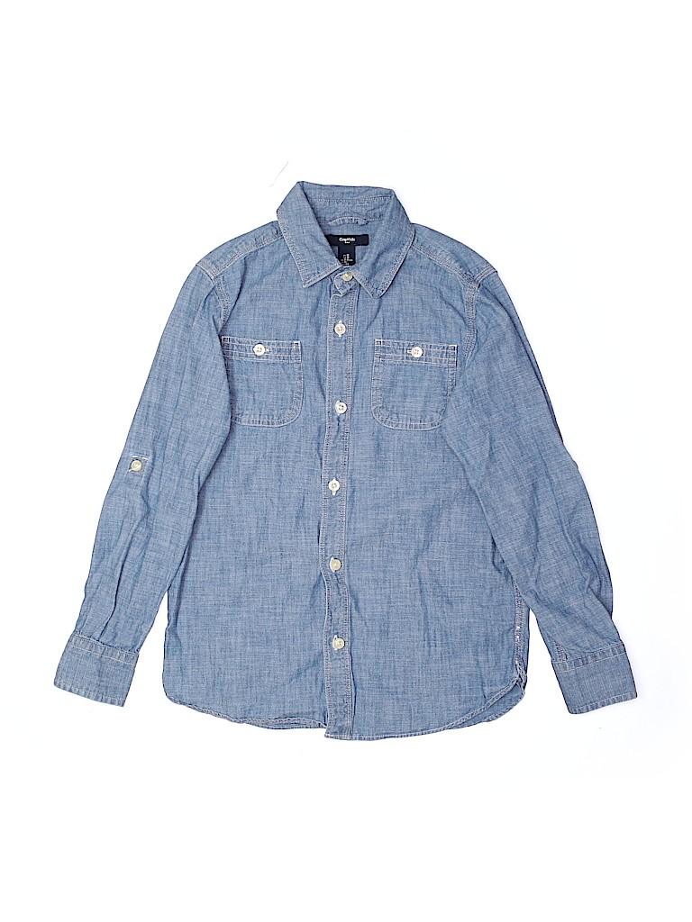 Gap Kids Outlet Boys Long Sleeve Button-Down Shirt Size M (Kids)