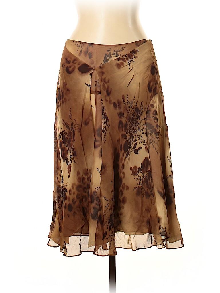 Banana Republic Women Silk Skirt Size 10