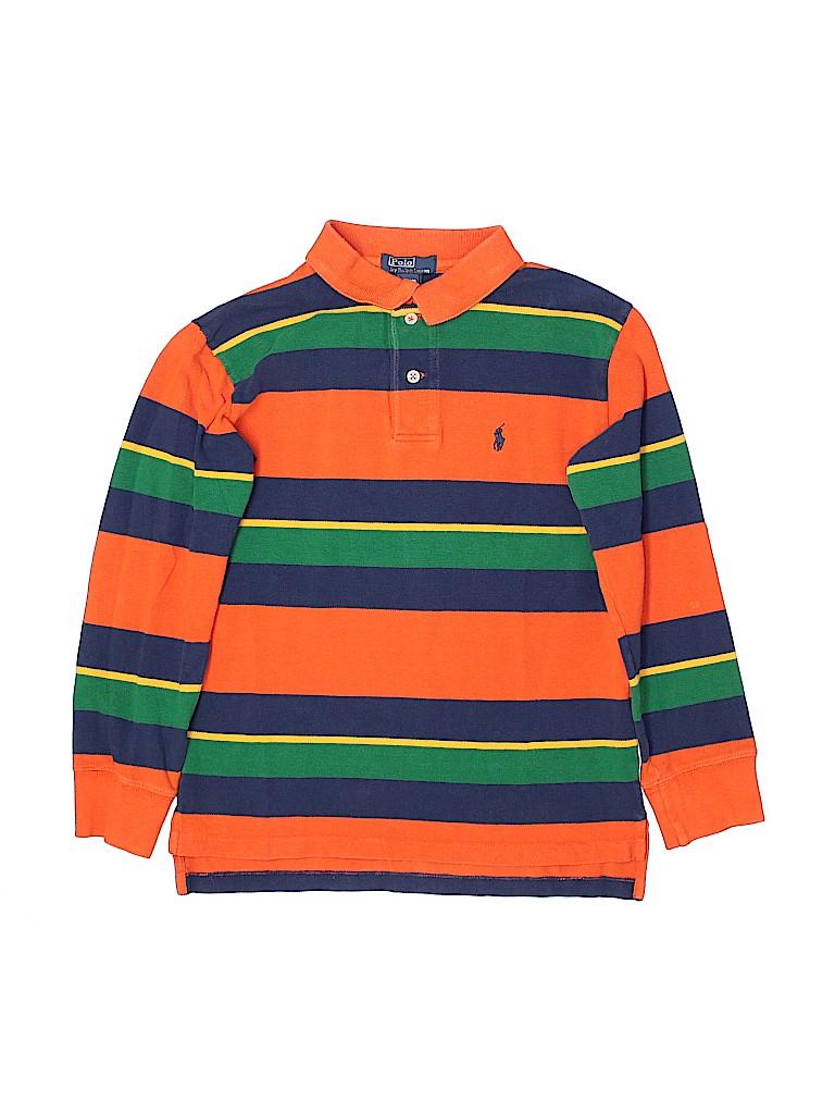 Polo by Ralph Lauren Boys Long Sleeve Polo Size 8 - 10