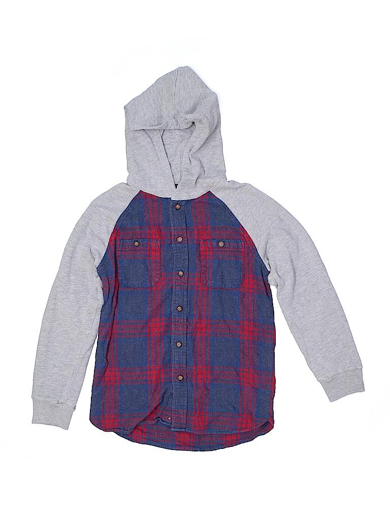 Cat & Jack Boys Long Sleeve Button-Down Shirt Size 8 - 10