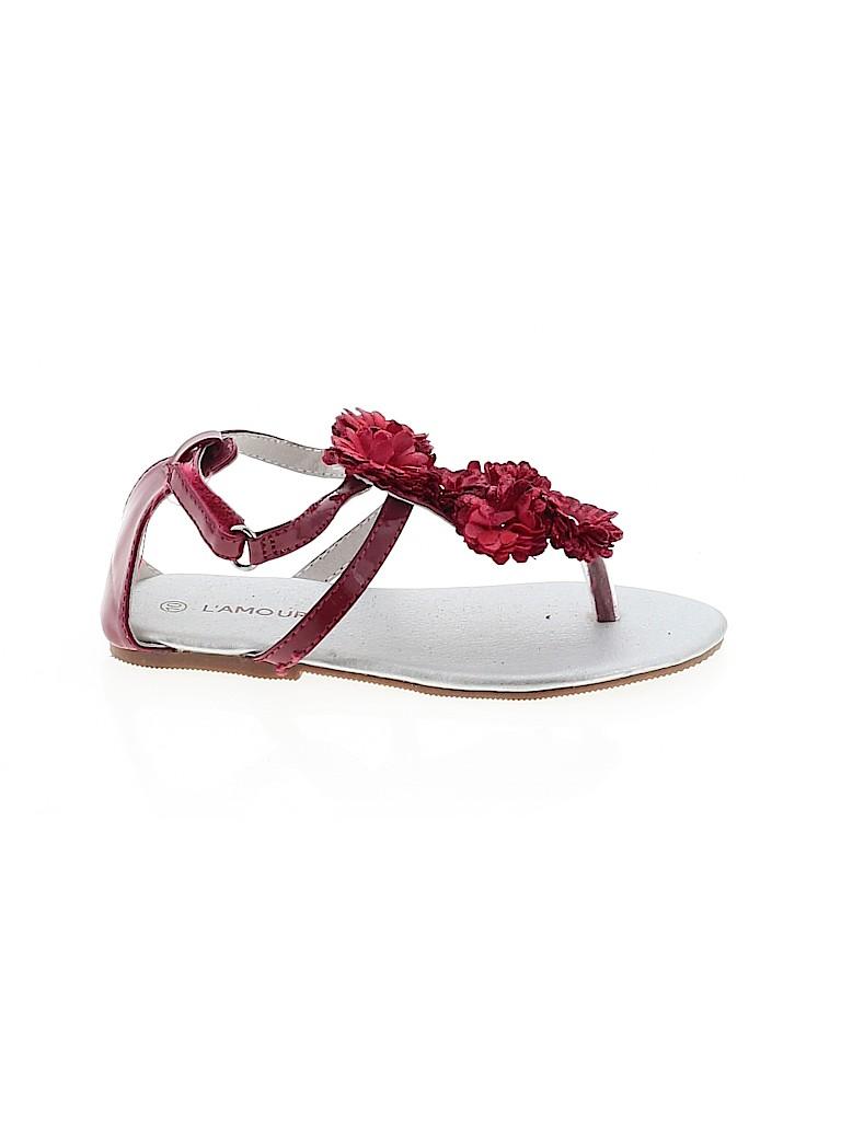 L'Amour Girls Sandals Size 10