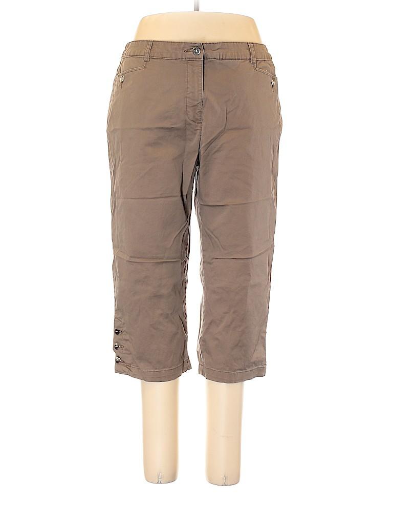 Karen Scott Women Khakis Size 16