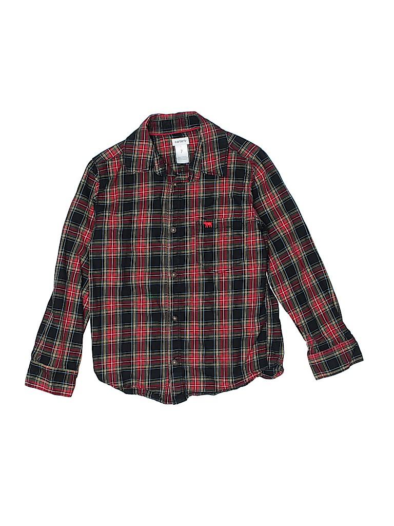Carter's Boys Long Sleeve Button-Down Shirt Size 7