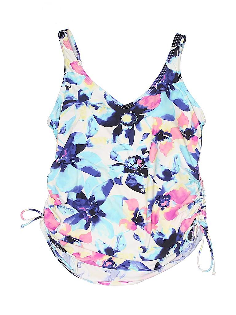 Croft & Barrow Women Swimsuit Top Size 18 (Plus)