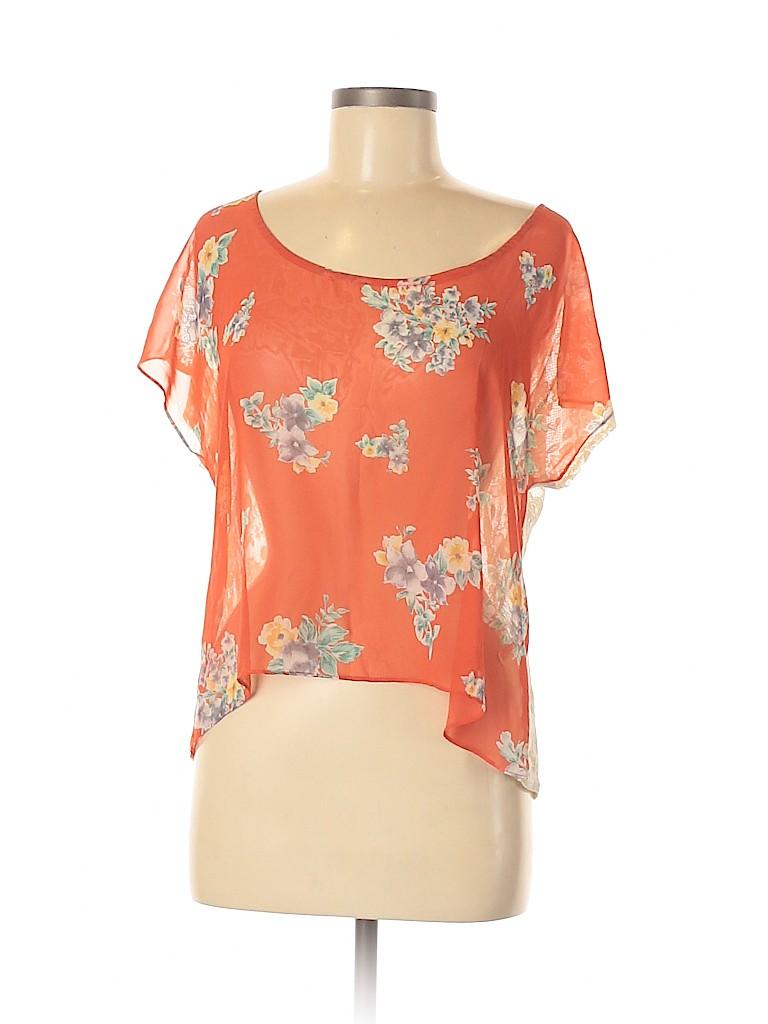 Soprano Women Short Sleeve Blouse Size M