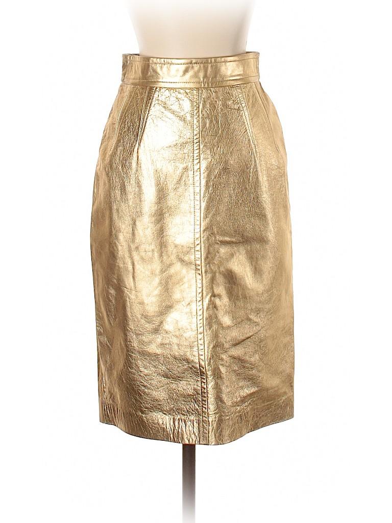 Escada by Margaretha Ley Women Leather Skirt Size 34 (EU)