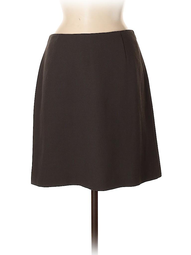 Emporio Armani Women Wool Skirt Size 44 (IT)