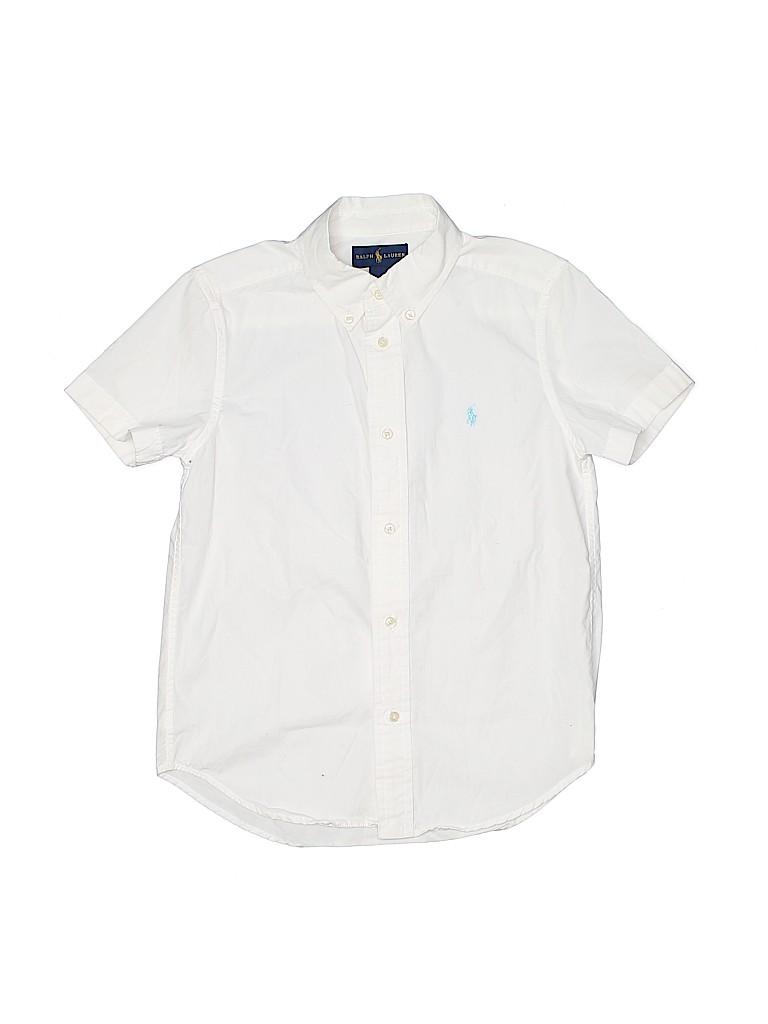 Ralph Lauren Boys Short Sleeve Button-Down Shirt Size 7