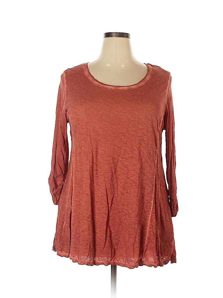 Style&Co Women 3/4 Sleeve Top Size 1X (Plus)