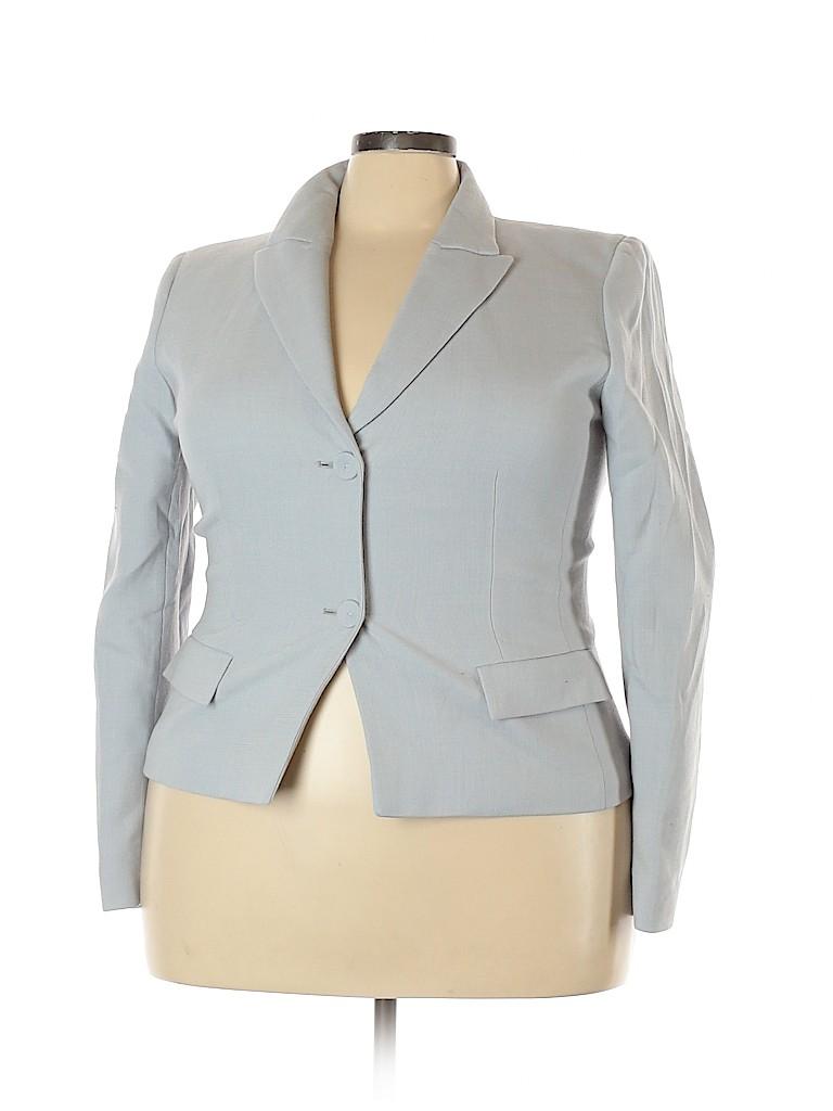 Lafayette 148 New York Women Wool Blazer Size 18 (Plus)