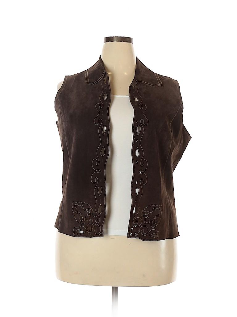Coldwater Creek Women Vest Size 1X (Plus)